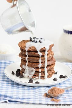 Gluten-Free Double Chocolate Pancakes |Guest Post From Queen of Quinoa! #glutenfree
