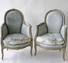 French Blue Chairs: aren't these extraordinary!?