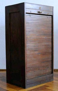 Rollschrank Rolladen Vintage Retro Loft Industrial ANLIEFERUNG #Bureau #Bauhaus #Notenschrank #Papierschrank #Aktenschrank #Schubladenschrank #Rollschrank #Kontor #Büro #Shabby #Retro #Vintage #Loft #Kult #Jalousienschrank #Jalousiekommode #Büroschrank #Klientenschrank #NotarSchrank #Industrial Stil #Industrie #Ablage #Register #Dokumentenablage Decor, Tall Cabinet Storage, Vintage, Home, Storage, Cabinet, Home Decor, Storage Cabinet, Second Hand Shop