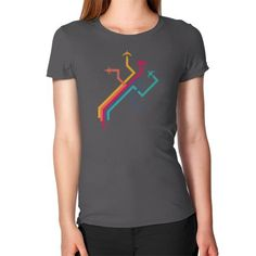 Colorful Vector Airplanes Women's T-Shirt
