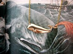 Big Brass Whale Necklace by luvswoodencars2 on Etsy, $13.00 @Cassandra Sterling