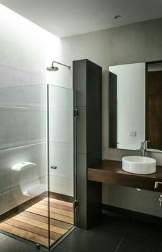 Browse modern bathroom ideas images to bathroom remodel, bathroom tile ideas, bathroom vanity, bathroom inspiration for your bathrooms ideas and bathroom design Read Bad Inspiration, Bathroom Inspiration, Modern Bathroom Design, Bathroom Interior, Bathroom Designs, Interior Livingroom, Bathroom Trends, Modern Design, Douche Design