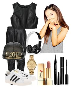 """""""BAAAGGG"""" by ambreignss ❤ liked on Polyvore featuring MuuBaa, Jaggar, Moschino, Beats by Dr. Dre, adidas Originals, Marc Jacobs, Chanel, Yves Saint Laurent and Lacoste"""