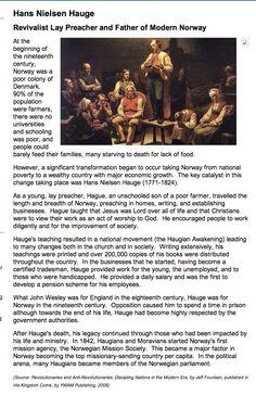 Hans Nielsen Hauge :   Revivalist Lay Preacher and Father of Modern Norway