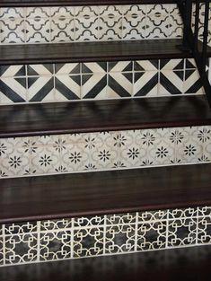 Exquisite Surfaces La Terre Deco Tile Staircase.