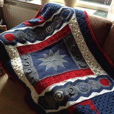 DecoGhan Original Crochet Afghan pattern by Julie by FiberJay