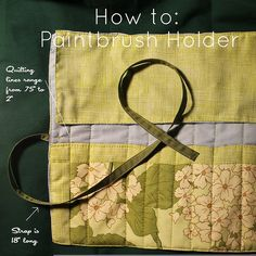 How to Make a Fabric Roll Up Paintbrush Holder | waterpenny quilts and little sewn things