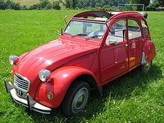 """The Citroën 2CV, """"deux chevaux"""",Conceived by Citroën Vice-President Paul Boulanger to help motorize the large number of farmers still using horses and carts in 1930s France. It is noted for its minimalist combination of innovative engineering and utilitarian, straightforward metal bodywork."""