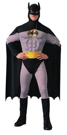 Batman Musclechest Deluxe Kostüm -Batman Kostüm-Batman Maske-   horror-shop.com #Batman #Superhero