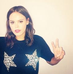 Atlanta de Cadenet Taylor gets into the holiday spirt with this sparkly star-print tee