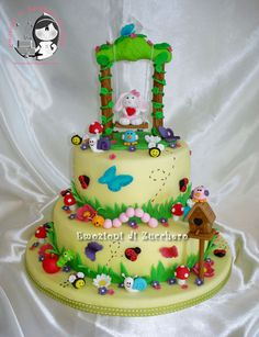 Garden cake... substitute with strawberries & Strawberry Shortcake in swing