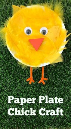 Easy Spring Craft: Paper Plate Chick Craft - The Chirping Moms - Easy Craft Ideas - Easy Spring Craft: Paper Plate Chick Craft . Spring crafts, and paper plate crafts,. Daycare Crafts, Preschool Crafts, Craft Kids, Spring Craft Preschool, Craft Work For Kids, Kids Diy, Spring Crafts For Kids, Art For Kids, Spring Crafts For Preschoolers