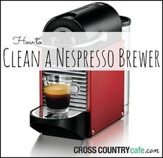 How to clean a Nespresso coffee brewer.