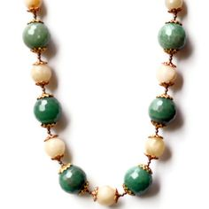 Rococo Statement Choker/ Chunky Green Peach by ALFAdesigns on Etsy, $49.99