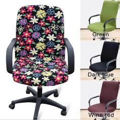 1PC-Washable-Removable-Stretchy-Office-Dining-Armchair-Seat-Swivel-Chair-Cover