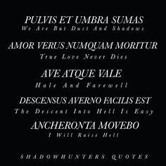 Mortal Instruments Zitate, Mortal Instruments Quotes, Latin Phrase Tattoos, Latin Tattoo, The Words, Cool Words, Latin Phrases, Latin Words, Latin Sayings