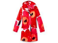 Marimekko raincoat. Isn't it cool?