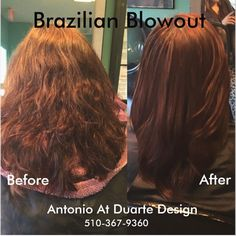 On #TranformationThursday #Indulge  in a #BrazilianBlowout  It  #TemporarilyRearrangesTheBondsOfTheHair  providing a #Smooth  #FrizzFree result while #Improving  the #HealthOfTheHair  and adding #Shine  for up to 12 weeks. As the #TreatmentEventuallyWearsOff  the #NaturalTexture  will return with #NoLineOfDemarkation  unlike #Relaxers. The #Results are #Unbelievable  12 Weeks of #MoreVibrant  #MoreHealthy  #MoreLuxurious #Hair . #Allowing  You #MoreTime  to #Enjoylife and the…