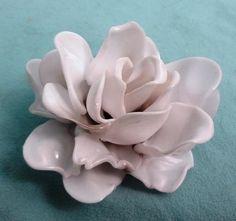 Plastic Spoon Rose Pendant