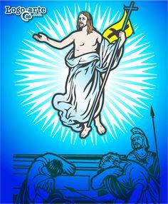 Décimoquinta estación del Viacrucis: JESÚS RESUCITA DE ENTRE LOS MUERTOS La tumba de Jesús fue cerrada y sellada. Según la petición de los sumos sacerdotes y los fariseos, se pusieron soldados de guardia ante la entrada para que nadie pudiera robar el cuerpo de Jesús. Al tercer día Jesús resucitó de entre los muertos, subió a los cielos y esta sentado a la diestra de Dios Padre todo poderoso.