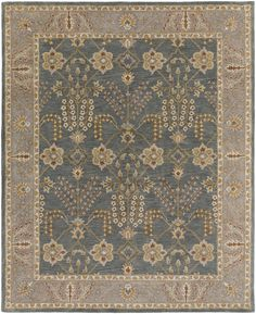 Middleton AWMD-2242 Slate/Beige Traditional Premium Wool Rug