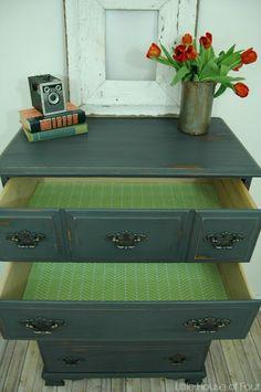 Chalky Finish Dresser Makeover | Little House of Four: Chalky Finish Dresser Makeover