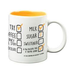 'How I Like Mine' Your Name & Instructions Custom Printed Gift Mug & Box by HairyBaby.com Custom Mugs, Gifts In A Mug, Like Me, Names, Fancy, Printed, Box, How To Make, Snare Drum