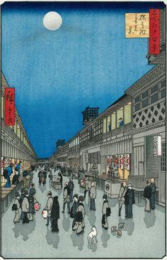 猿わか町夜の景 --歌川広重