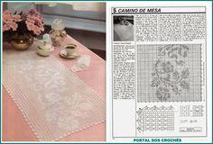 PORTAL OF crochets: TABLE OF ROADS IN FILÉ CROCHET