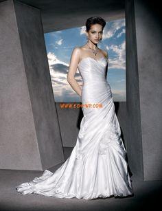 Hof-Schleppe Herz-Ausschnitt Natürlich Brautkleider 2014
