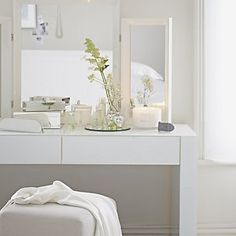 Add a touch of luxury to your home with quality tableware, glassware, table linen, kitchen accessories and more. Dressing Table, Dressing Room, White Furniture, Bedroom Furniture, The White Company, Cabinet Makers, Room Set, Table Linens, Modern Bedroom
