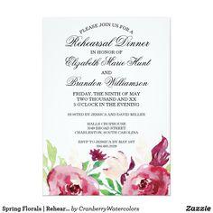 Spring Florals | Rehearsal Dinner Invitation