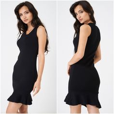 Introduce glam to your occasion-wear this season with this stunning LBD! Featuring a frill hem and a scoop neck in a fitted, bodycon silhouette. Team with your favourite heeled sandals and clutch bag for the perfect party outfit! Bodycon Dress Parties, Party Dress, Womens Clothing Stores, Clothes For Women, Fashion 2018, Womens Fashion, Occasion Wear, Day Dresses, Amazing Women