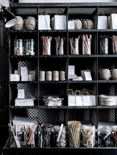Home Office organization with a traditional post office triage #design #interiordesign