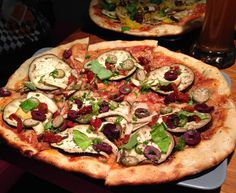 """See 8 photos from 106 visitors about pizza, good service, and casual. """"Amazingly tasty vegan pizza - one of the best I ever had. Vegan Pizza, Vegan Food, Vegan Recipes, Organic Pizza, Caper Berries, Pizza One, Dried Tomatoes, Vegan Cheese, Fresh Basil"""