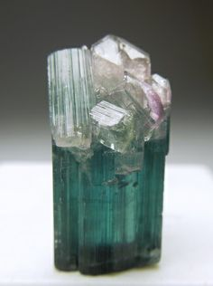 Indicolite (blue tourmaline) -corresponds to all chakras in terms of clearing, but particularly to the throat & third eye chakras; said to aid in the quest for spiritual growth; increases psychic awareness & healing powers;brings happiness & laughter;  promotes inspiration& lessens fear;benefits the lungs, larynx, thyroid, heart, internal organs, &parasympathetic nerves.