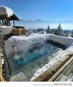 Ski Resort in Switzerland in the Alps. Want. to. Go. There!!