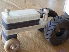 Wooden Toy Tractor and Wagon - Keepsake Farm Toy Farm Toys, Garden Crafts, Wood Toys, Outdoor Projects, Tractors, Kids Toys, Projects To Try, Woodworking, Etsy