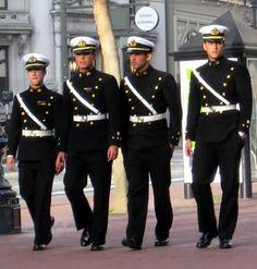 Peruvian Navy officers' service dress uniform.