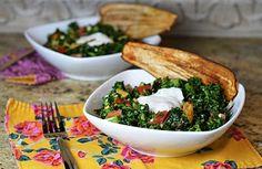 "Friday Favs – Cara's Cravings makes Massaged Kale ""Cobb"" Salad with Crispy Eggplant ""Bacon"" | Beantown Baker"