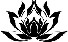 Egyptian Lotus Flower - suitable design for applique Art Deco quilt Black Lotus Tattoo, White Lotus Flower, Lotus Flower Design, Lotus Flowers, Flower Art, Lottus Tattoo, Lotus Drawing, Flower Tattoos, Hand Tattoos