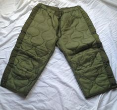 MILITARY SURPLUS FIELD PANTS LINER COLD WEATHER OD GREEN MEDIUM SHORT  NEW