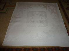 """Vintage Set of 7 Irish Linen Napkins.  21"""" X 21"""".   Unique Pattern #Unbranded"""