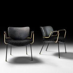 High End Italian Designer Retro Style Lounge Chair - Juliettes Interiors Italian Furniture, Classic Furniture, Metal Furniture, Sofa Furniture, Modern Furniture, Furniture Design, Luxury Furniture, Outdoor Furniture, Style Lounge