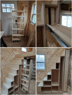 tiny house pantry under the stairs