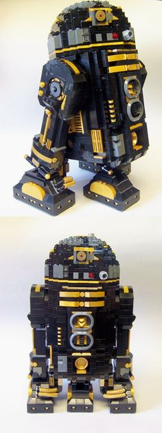 "Original pinner said: ""LEGO Star Wars Death Star astrodroid. I took the directions from kit 10225 and picked through my Lego collection to create this for Legoland Star Wars Days."