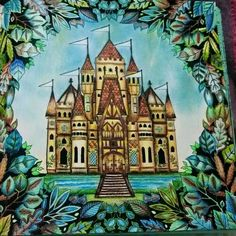 enchanted forest coloring book colored - Google-søgning