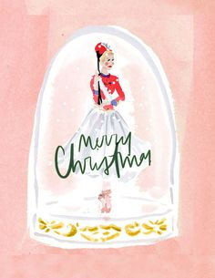 Set of Illustrated Christmas Cards: Nutcracker Toy Soldier Dolls