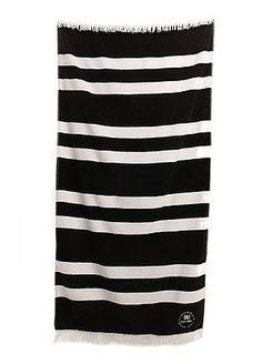 Black/White beach towel