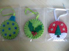 various felt christmas decorations